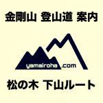 どこよりも詳しいトレッキングルートガイド!金剛山「松の木 下山ルート」をわかりやすく解説(登山ルート・登山道)